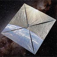 LightSail 2 trong không gian. (Ảnh: Planetary).