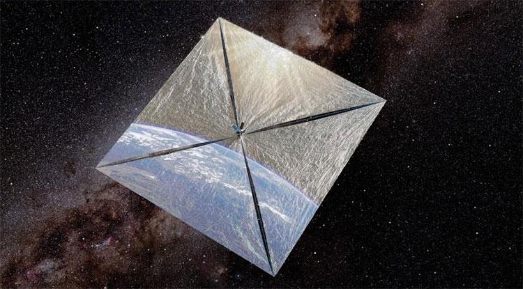 LightSail 2 trong không gian.