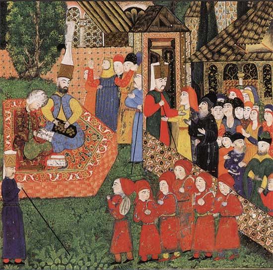 Thanh thiếu niên Cơ Đốc giáo (áo đỏ) phục vụ tại đế chế Ottoman.