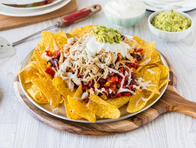 Hình ảnh món nachos ở Mexico.