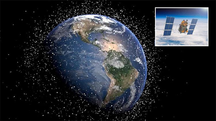 Ước tính hiện có khoảng 8.400 tấn rác thải vũ trụ chuyển động quanh quỹ đạo Trái Đất.