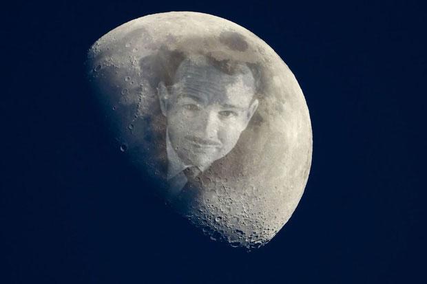 Người duy nhất được mai táng trên Mặt trăng