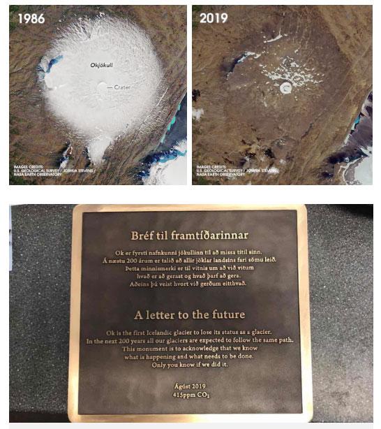 Bia tưởng niệm dành cho Okjökull