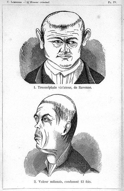 Sự tương đồng về khuôn mặt và chiều dài bất thường các ngón tay giữa những tên tội phạm.