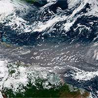 """Các đám mây bụi Sahara """"làm dịu"""" các cơn bão ở Đại Tây Dương"""