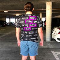 Chiếc áo thun này có thể đánh lừa hệ thống đọc biển số tự động