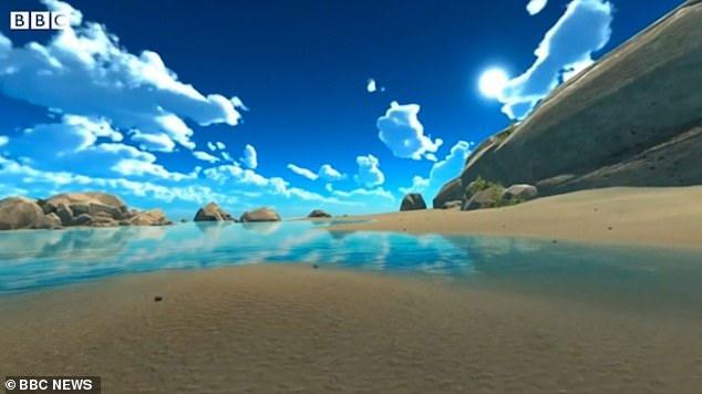 Cảnh biển xuất hiện trước mắt thai phụ.
