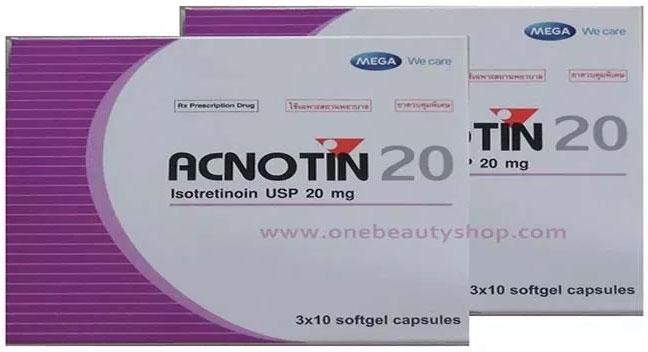 Thuốc trị mụn acnotin 20mg.
