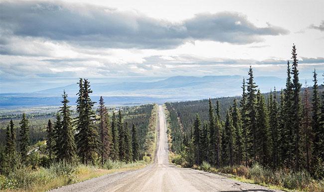 Con đường di chuyển theo hướng bắc sang nam.
