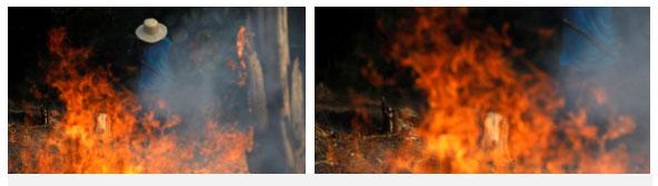 Một số người cố sức ngăn đám cháy ởIranduba thuộc bang Amazonas hôm 20/8/2019 nhưng không thể