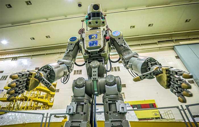 Robot Skybot F-850 (Fedor) của Nga được thử nghiệm tại sân bay vũ trụ Baikonur, Kazakhstan.