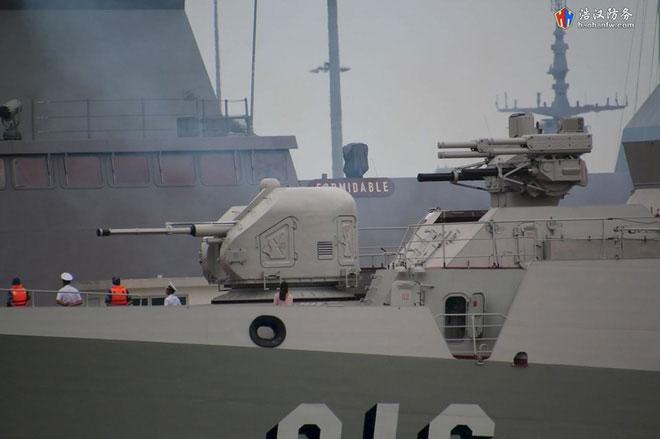 Cận cảnh bộ đôi hải pháo AK-176M và tổ hợp vũ khí phòng không Palma-SU khi nhờ từ xa.
