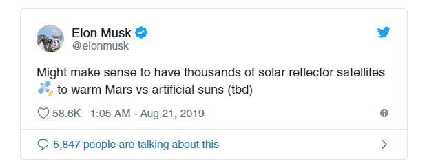 Những dòng chia sẻ của Elon Musk trên Twitter.