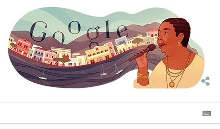 Google Doodle vinh danh Cesária Évora.