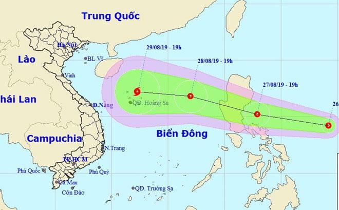 Áp thấp nhiệt đới trên vùng biển của Philippines có khả năng tiến vào Biển Đông