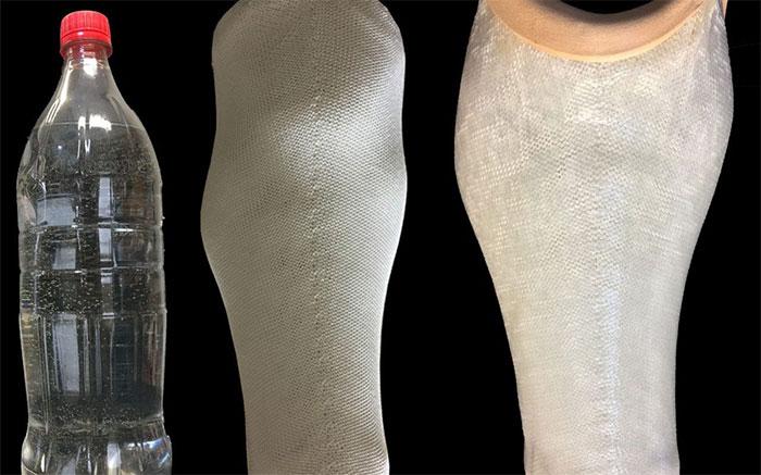 5 chai nhựa dung tích 1 lít có thể làm ra một ống chân giả