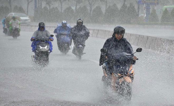 Gió mùa Tây Nam hoạt động mạnh khiến khu vực Tây Nguyên và Nam Bộ có thể mưa lớn trong nhiều ngày tới.