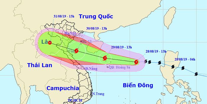 Vị trí của bão Podul.