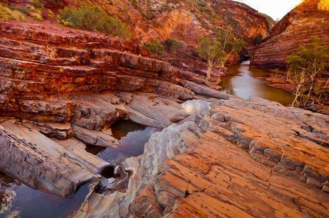 Một hẻm núi tại Vườn Quốc gia Karijini, trung tâm của vùng Pilbara.