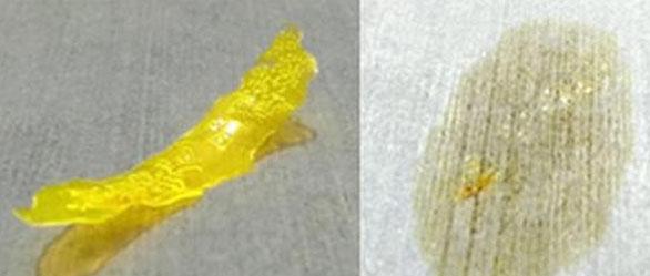 Trước và sau khi vật liệu mới được cho tiếp xúc với ánh sáng mặt trời