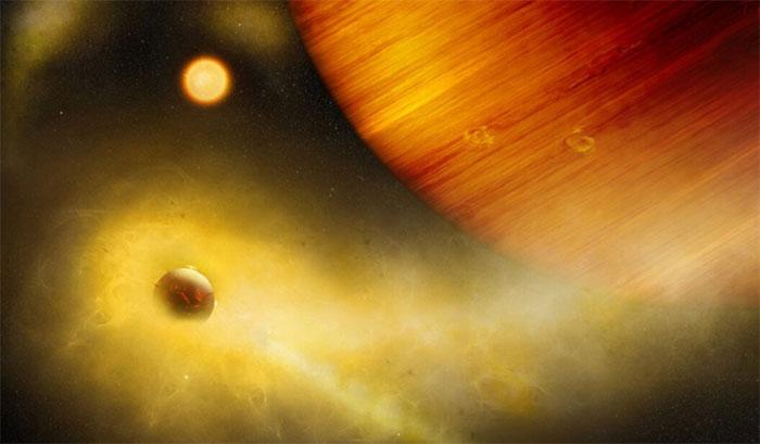 Mặt trăng nham thạch xoay quanh ngoại hành tinh WASP 49-b.