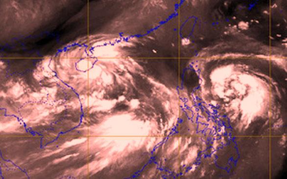 Khu vực Biển Đông kéo dài ra Thái Bình Dương đang có nhiều vùng áp thấp nhiệt đới, bão