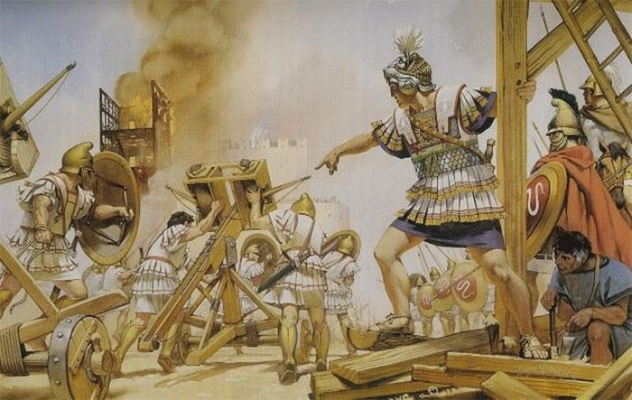 Lực lượng của Alexander Đại đế bị tấn công bằng... cát.