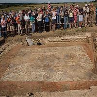 Khai quật tranh khảm La Mã 1.600 năm tuổi