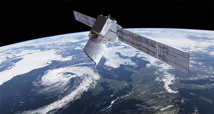 Vệ tinh Aeolus hoạt động trên quỹ đạo.