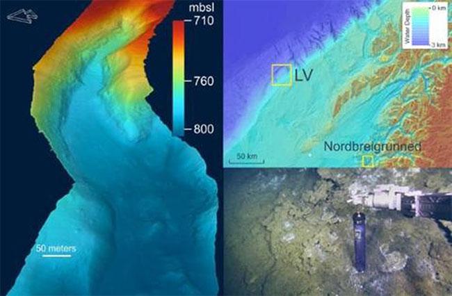 Vùng nước ngọt rò rỉ từ đáy biển ở Na Uy được cho là từ một vùng nước khổng lồ bị giam giữ.