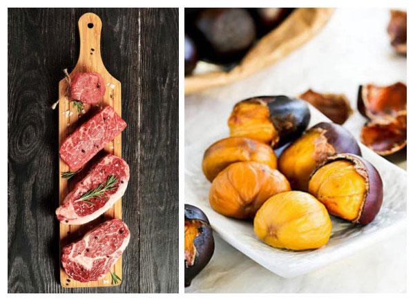 Thịt bò và hạt dẻ