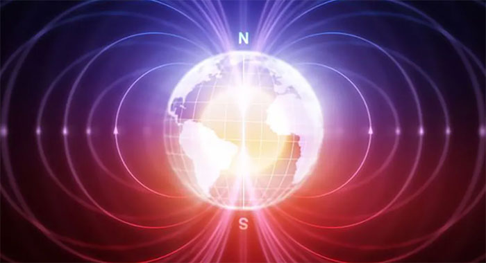 Thực tế, kim trên một la bàn liên tục dao động giữa phía Bắc thực và phía Bắc từ tính, do sự dao động trong từ trường của Trái đất.