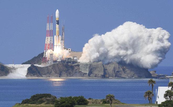 Một đợt phóng tên lửa tại Trung tâm vũ trụ Tanegashima ở miền nam Nhật Bản.