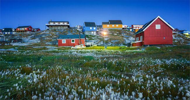 Những ngôi nhà nhiều màu sắc ở Greenland