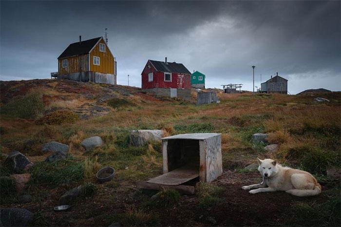 Khu định cư Rodebay, cách thị trấn Ilulissat khoảng 2 giờ đi thuyền.