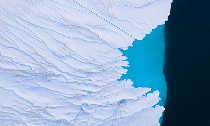 """Một tảng băng khác với những """"nhánh sông"""" nhỏ"""