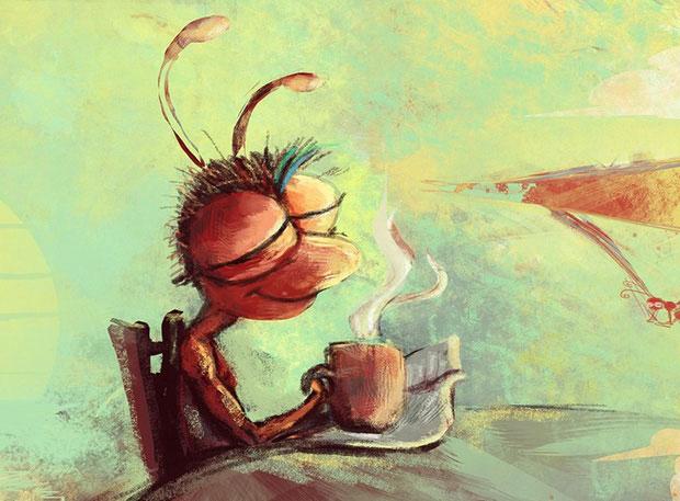 Hương vị của món cafe kiến không ngờ lại thật sự quyến rũ.