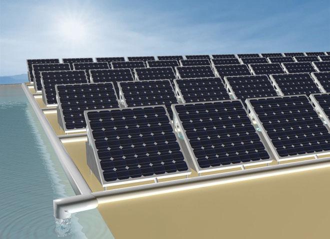 Pin Mặt trời tạo điện năng và nhiệt, nhiệt sẽ được điều hướng vào máy lọc nước.