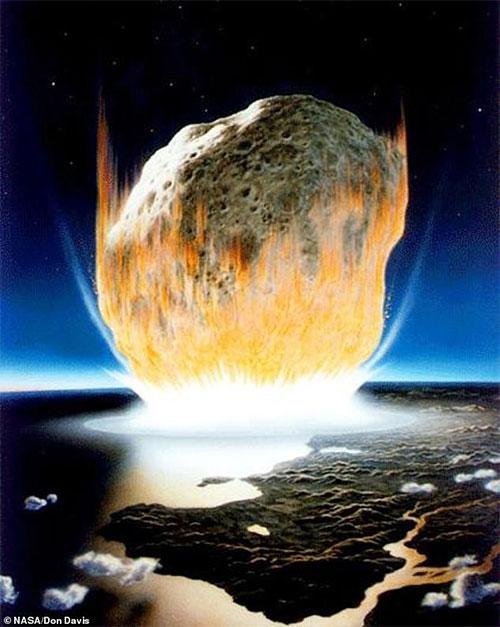 Ảnh đồ họa mô tả thảm họa 66 triệu năm trước