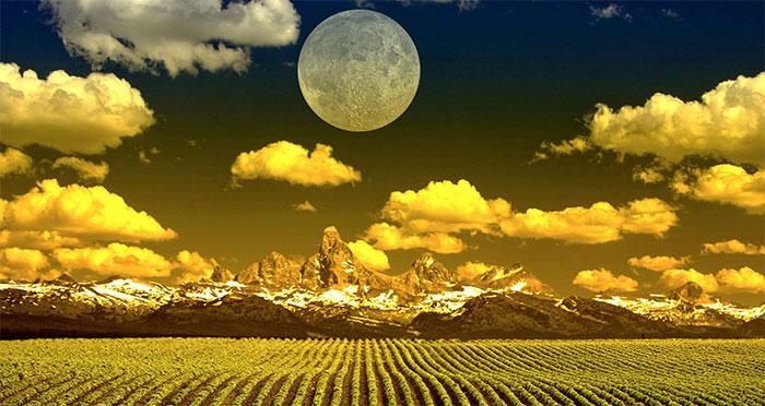 Trăng tròn vào tháng 9 được gọi là Trăng mùa thu hoạch.