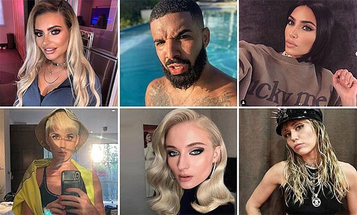 Một số người nổi tiếng như Drake, Kim Kardashian và Miley Cyrus cũng có xu hướng nghiêng trái khi chụp ảnh