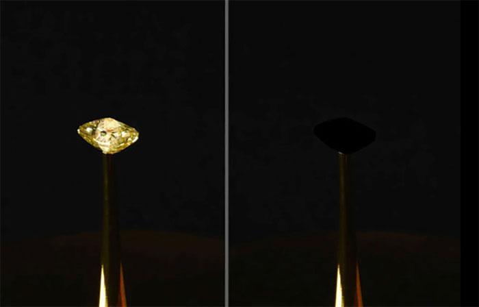 Viên kim cương đặc biệt được phủ lên vật liệu mới của MIT.