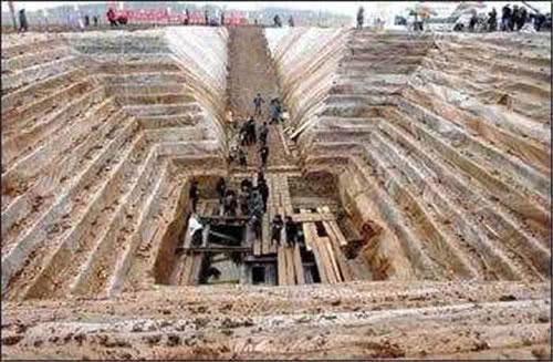 Đây là một ngôi mộ cát điển hình.