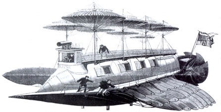 Hình dung của Tesla về chiếc phi cơ kì dị của mình.