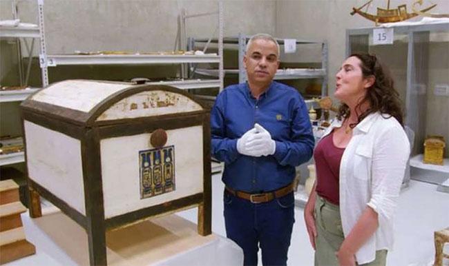 Chiếc hộp bí ẩn được tìm thấy trong lăng mộ Pharaoh Ai Cập Tutankhamun.