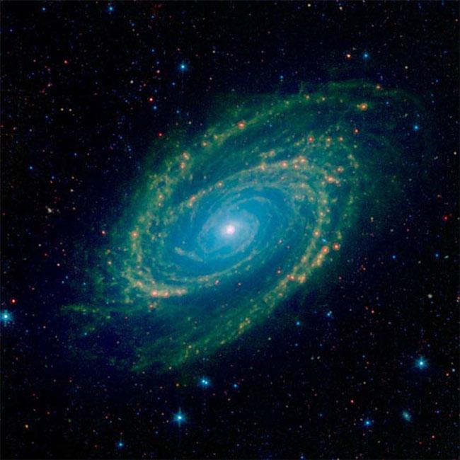 Ngắm ảnh hồng ngoại thiên hà Messier 81 cực đẹp