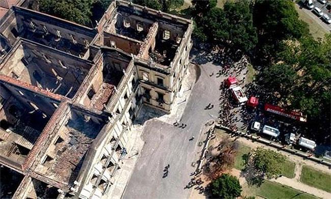 Khu vực bảo tàng nhìn từ trên xuống.