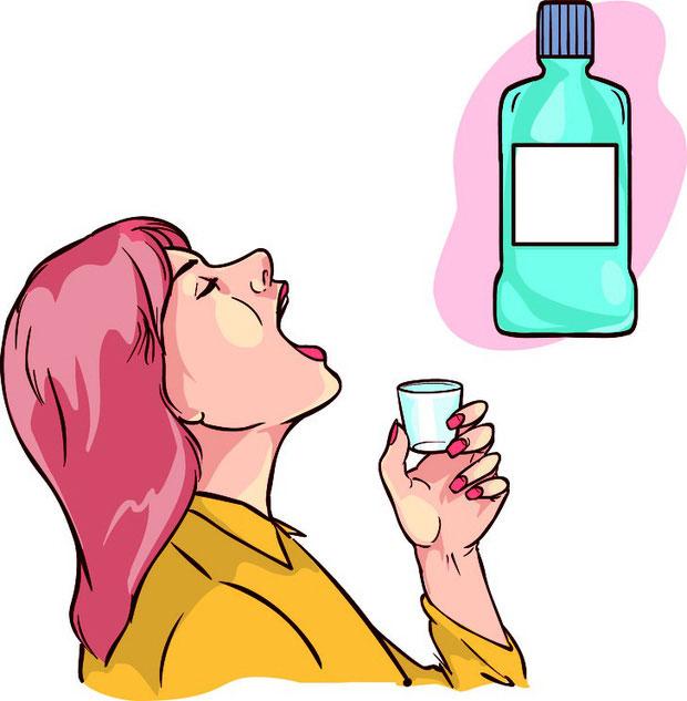 Sử dụng nước súc miệng không chứa cồn