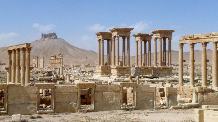 Thành cổ Palmyra.