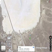 Đĩa bay xuất hiện trên Google Maps, gần Area 51